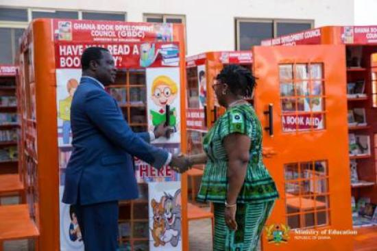 The Deputy Minister of Education Launching GBDC Book Booths